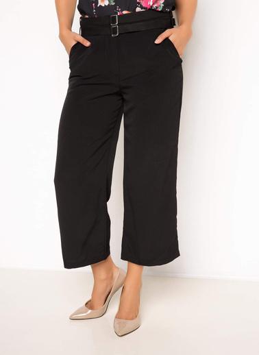 DeFacto Yüksek Bel Düz Kesim Pantolon Siyah
